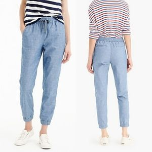 Point Sur Seaside Pant in Chambray - J. Crew
